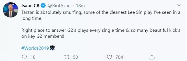 GRF爆锤G2引解说热议 Tarzan就是代练
